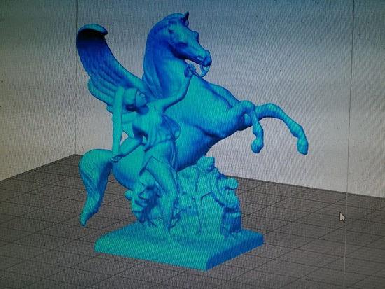 Picture of Pheme Holding Pegasus
