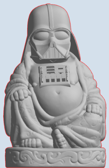 Picture of Darth Vader Buddha